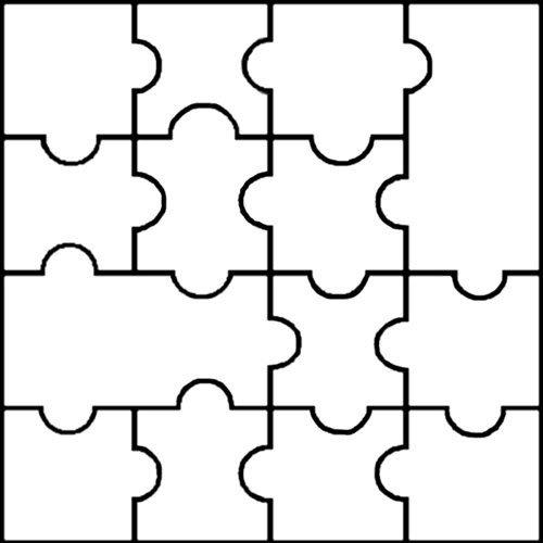 Large Puzzle Piece Template Puzzle Piece Template Cliparts