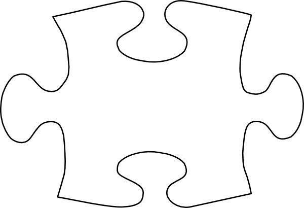 Large Puzzle Piece Template Puzzle Piece Template