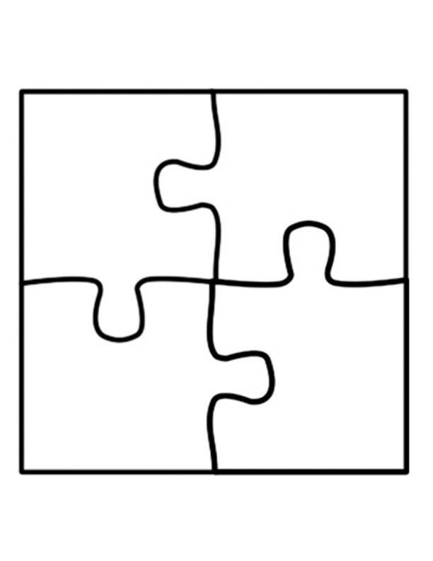 Large Puzzle Piece Template Puzzle Piece Template On Pinterest