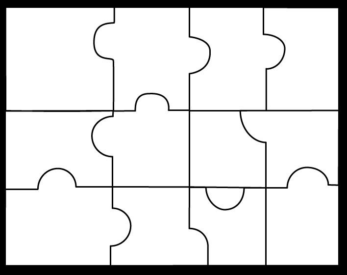 Large Puzzle Piece Template Puzzle Pieces Template
