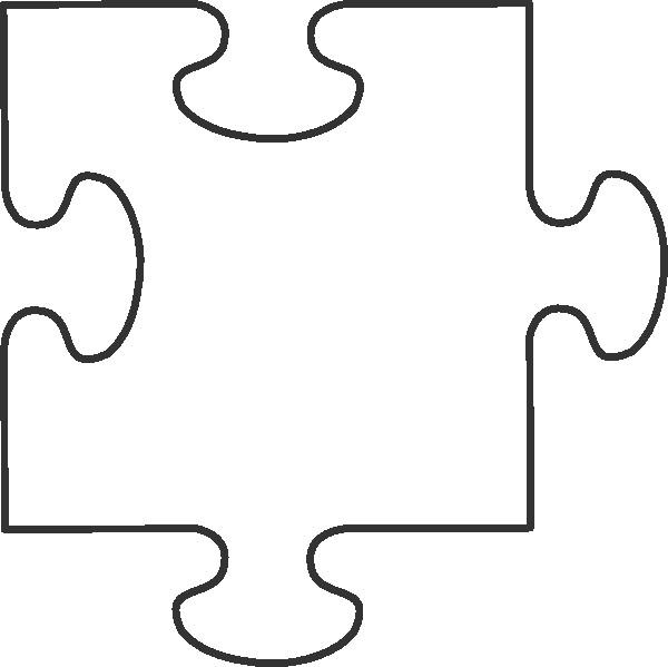 Large Puzzle Piece Template Transparent Puzzle Piece Clip Art at Clker Vector