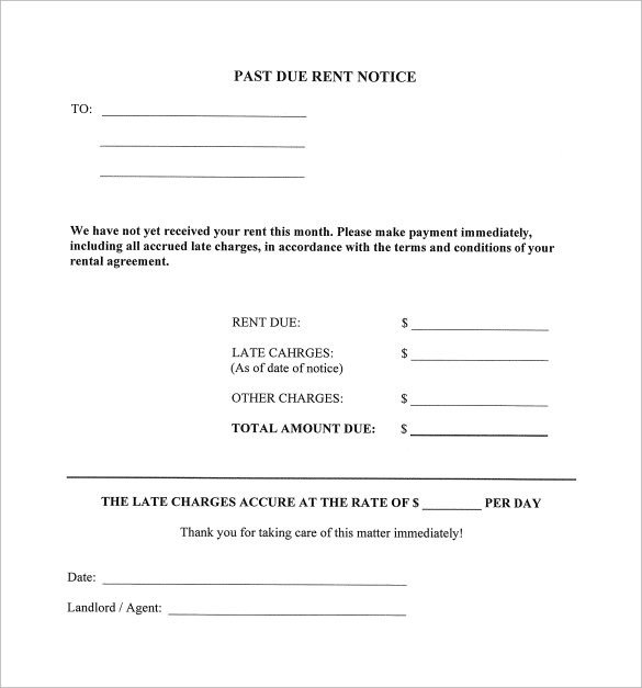 Late Rent Notice Template 9 Late Rental Notice Templates Pdf Google Docs Ms