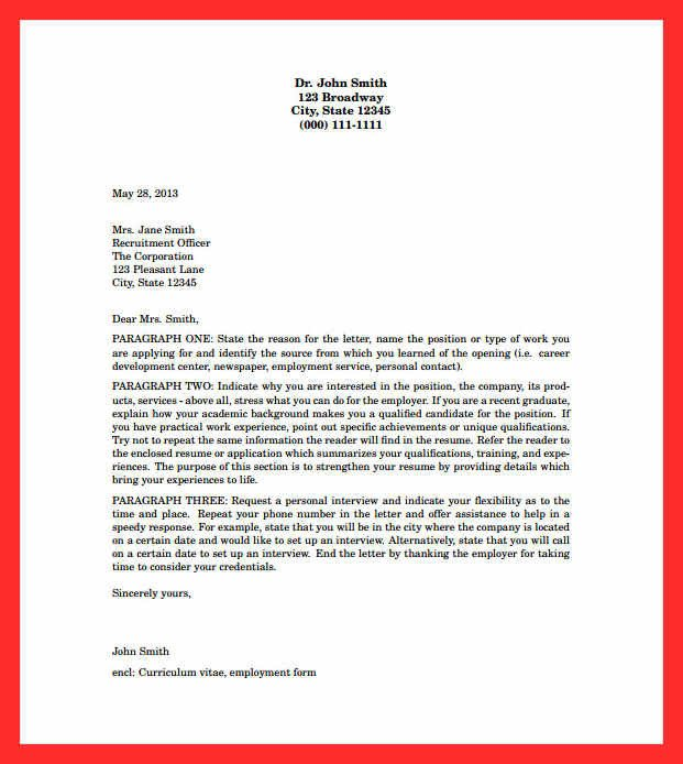 Latex Cover Letter Template Cover Letter Layout