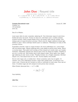 Latex Cover Letter Template Cover Letters Latex Line Latex Editor
