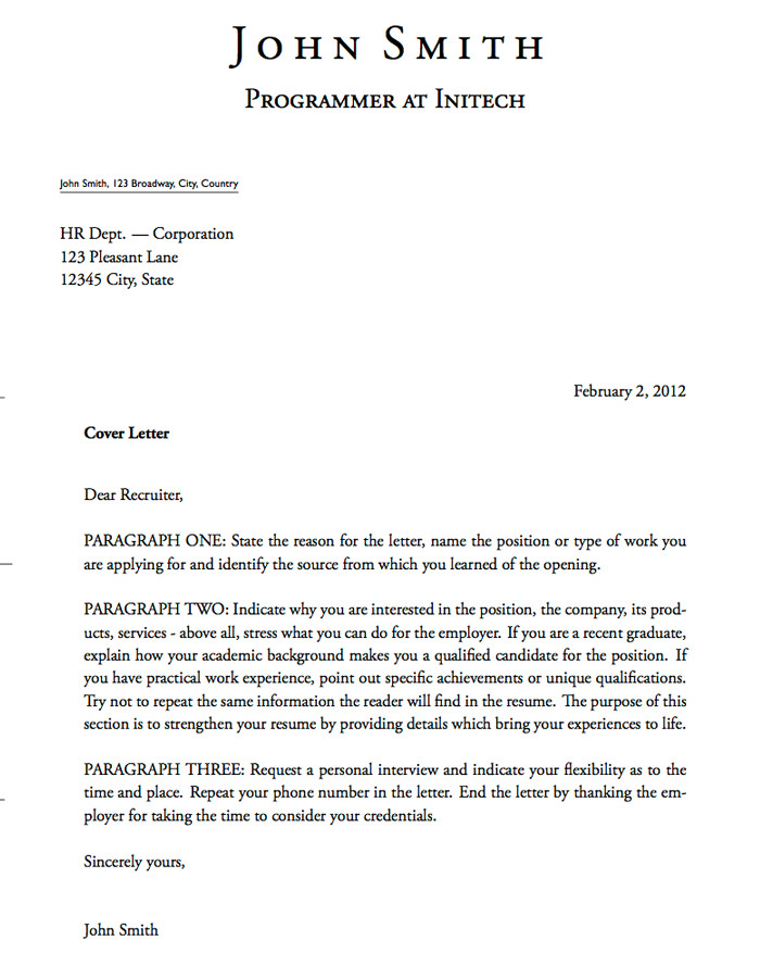 Latex Cover Letter Template Latex Templates Cover Letters