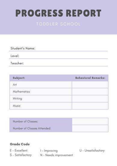 Lausd Report Card Template Customize 69 Preschool Report Card Templates Online Canva
