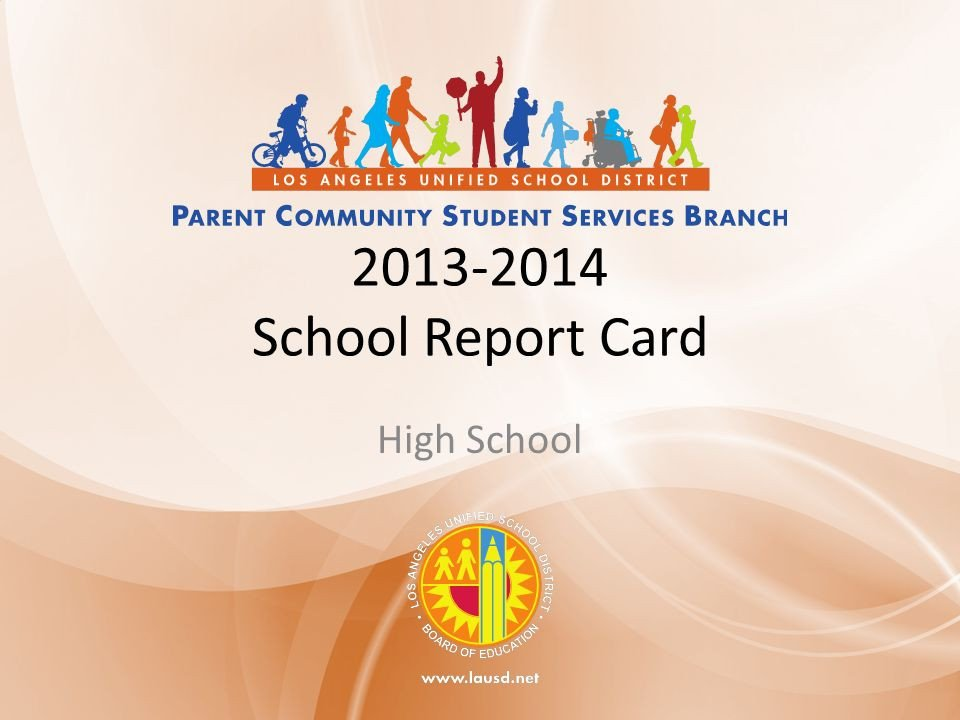 Lausd Report Card Template School Leader Reflection Sheet Ppt