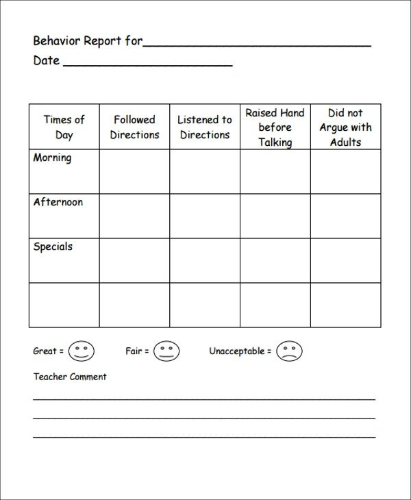 Lausd Report Card Template Student Report Templates 14 Free Word Pdf Google Docs
