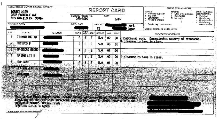 Lausd Report Card Template the Black Mentator July 23 2009 issue 334