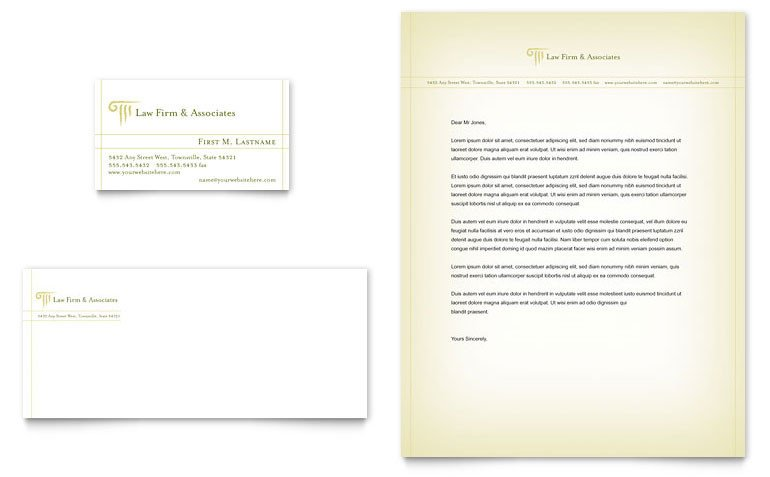 Law Firm Letterhead Template attorney & Legal Services Business Card & Letterhead