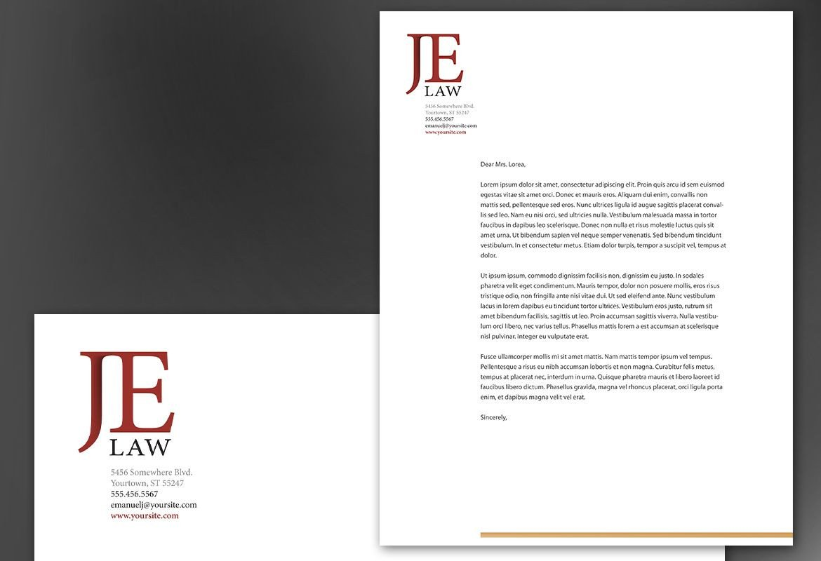 Law Firm Letterhead Template attorney Letterhead Templates