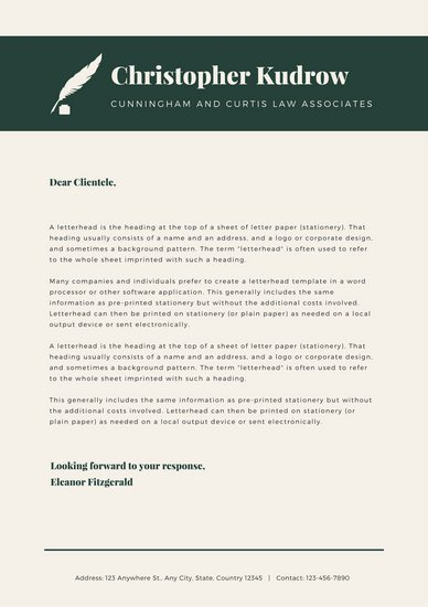 Law Firm Letterhead Template Customize 37 Law Firm Letterhead Templates Online Canva
