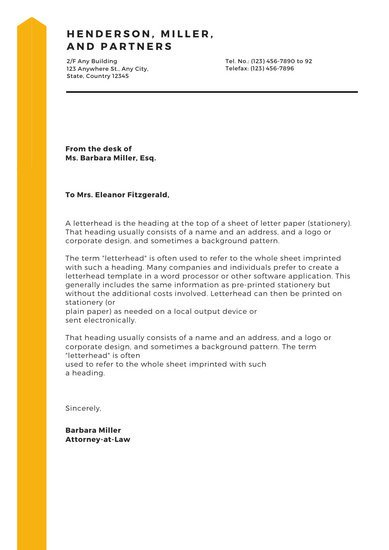 Law Firm Letterhead Template Customize 744 Letterhead Templates Online Canva