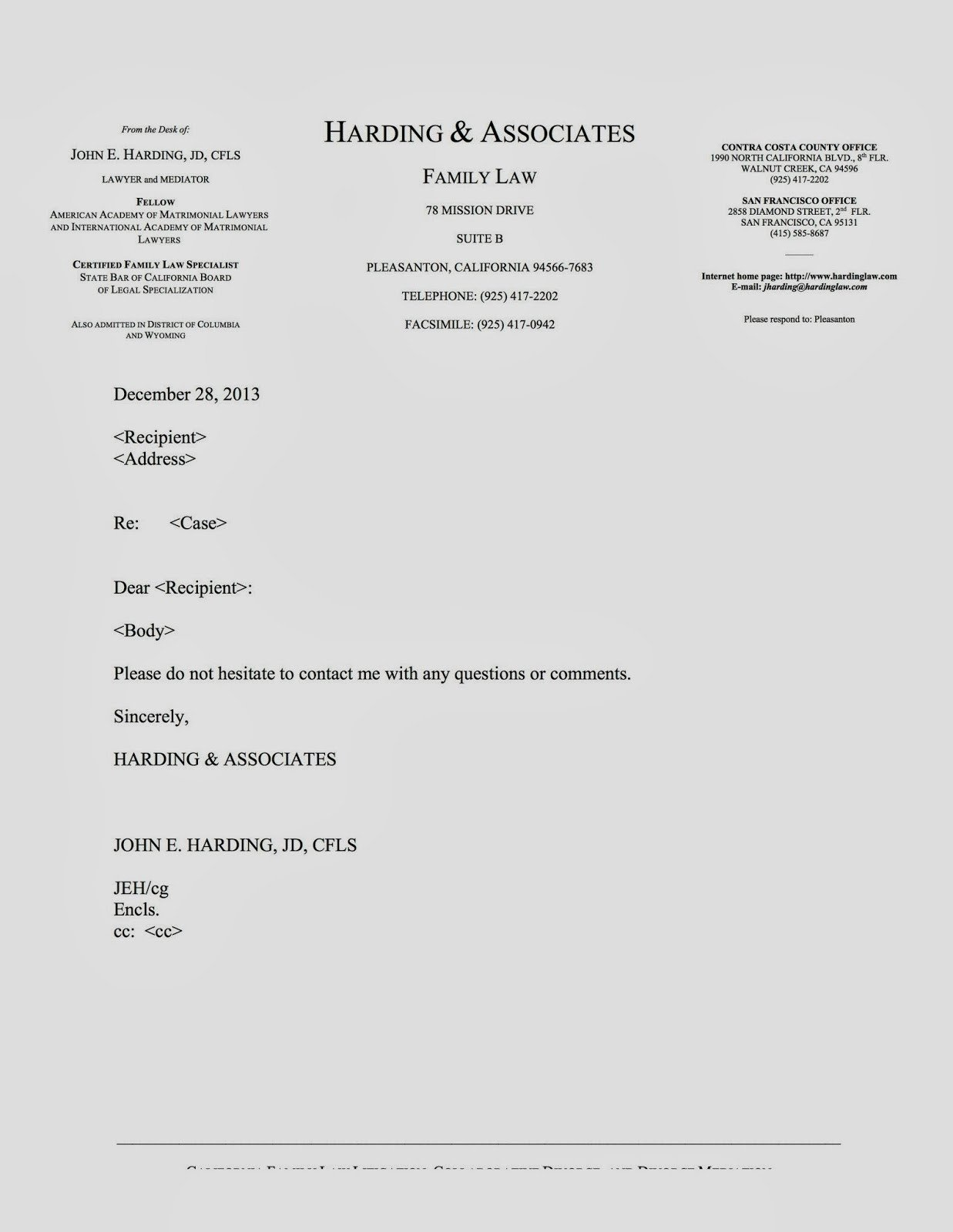 Law Firm Letterhead Template Family Law Lawyer Tech & Practice 2013