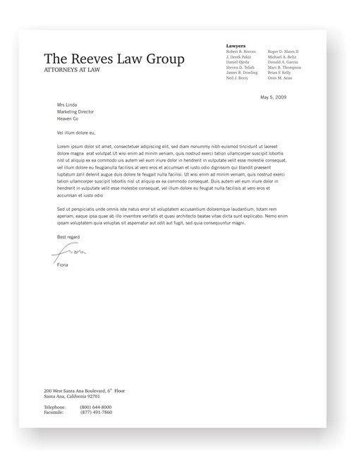 Law Firm Letterhead Template Law Firm Letterhead Design