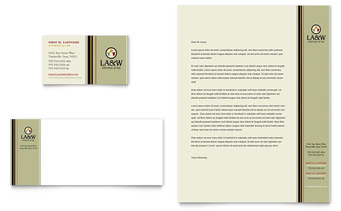 Law Firm Letterhead Template Lawyer & Law Firm Business Card & Letterhead Template Design