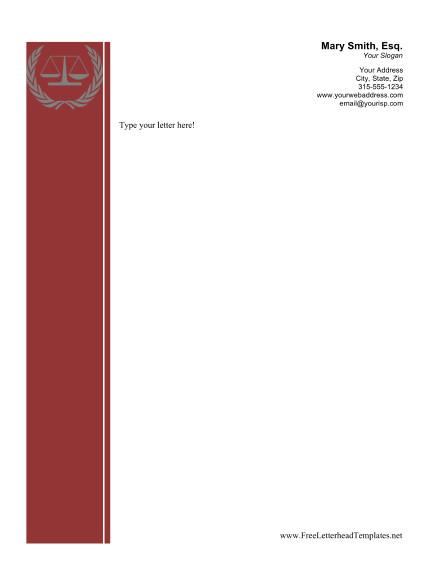 Law Firm Letterhead Template Legal Business Letterhead