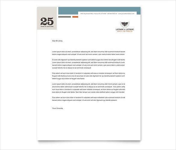 Law Firm Letterhead Template Legal Letterhead