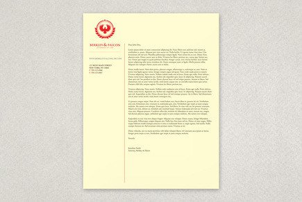 Law Firm Letterhead Template Professional Law Firm Letterhead Template