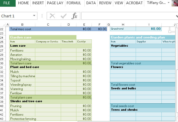 Lawn Care Business Expenses Spreadsheet Lawn & Garden Expense Template for Excel
