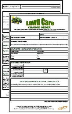 Lawn Care Estimate form Lawn Care Contract Bo Estimate & Contract form $9