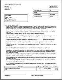 Lawn Care Estimate form Tree Removal Quote Template Image Quotes at Relatably
