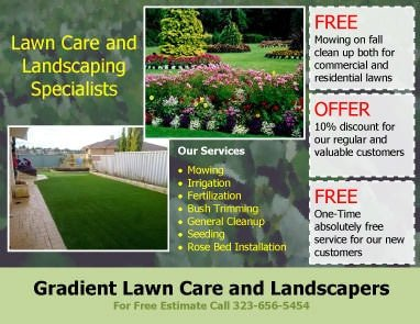 Lawn Care Flyer Template Free 15 Lawn Care Flyers [free Examples Advertising Ideas
