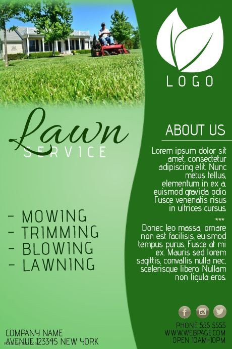 Lawn Care Flyer Template Free Create Amazing Lawn Care Flyers by Customizing Our Easy to