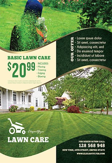 Lawn Care Flyer Template Free Lawn Care – Free Flyer Psd Template – by Elegantflyer