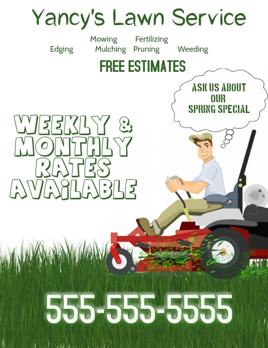 Lawn Care Flyer Template Free Lawn Service Flyer Template