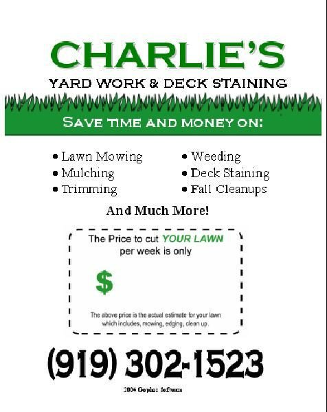 Lawn Care Flyer Template Free Pin by Karen tolman On Diy