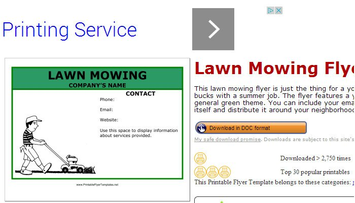Lawn Care Flyer Template Word 5 Lawn Mowing Flyer Templates
