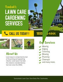 Lawn Care Flyer Template Word Customize 230 Lawn Service Flyer Templates