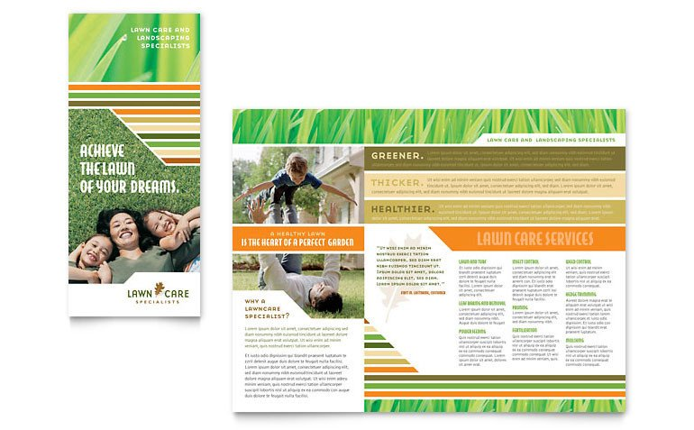 Lawn Care Flyer Template Word Lawn Care & Mowing Brochure Template Word & Publisher
