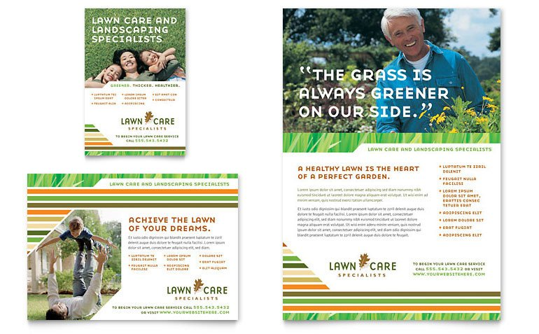 Lawn Care Flyer Template Word Lawn Care & Mowing Flyer & Ad Template Word & Publisher