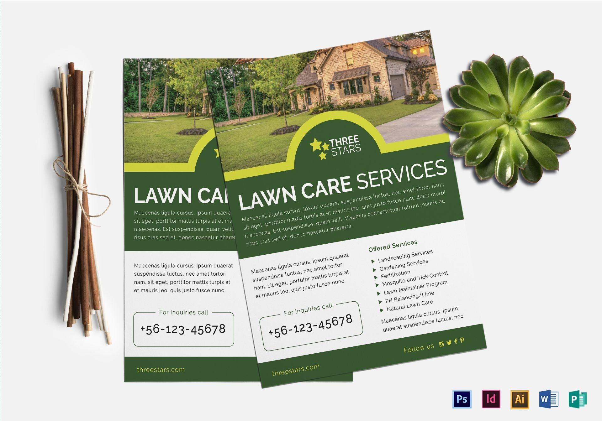 Lawn Care Flyer Template Word Lawn Care Flyer Design Template In Psd Word Publisher