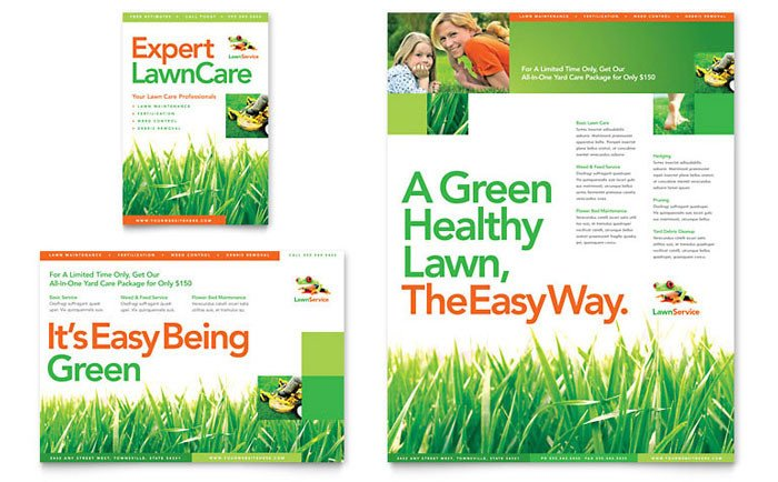 Lawn Care Flyer Template Word Lawn Maintenance Flyer & Ad Template Design