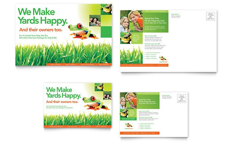 Lawn Care Flyer Template Word Lawn Maintenance Postcard Template Word & Publisher