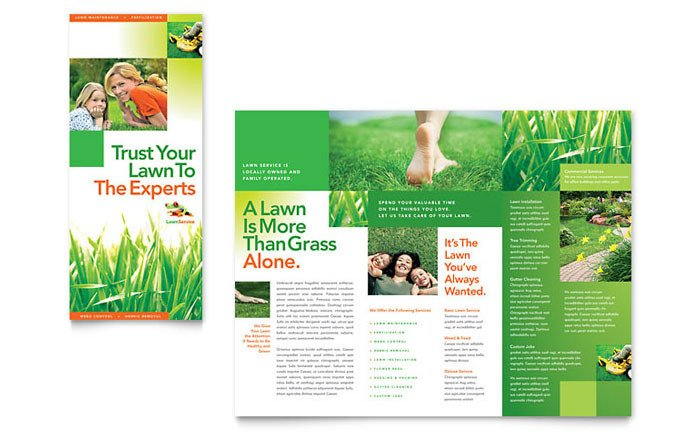 Lawn Care Flyer Template Word Lawn Maintenance Tri Fold Brochure Template Design