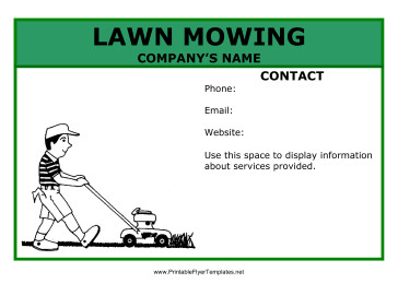 Lawn Care Flyer Template Word Lawn Mowing Flyer
