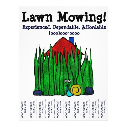 Lawn Care Flyer Template Word Lawn Mowing Lawn Care Yard Word Custom Flyer
