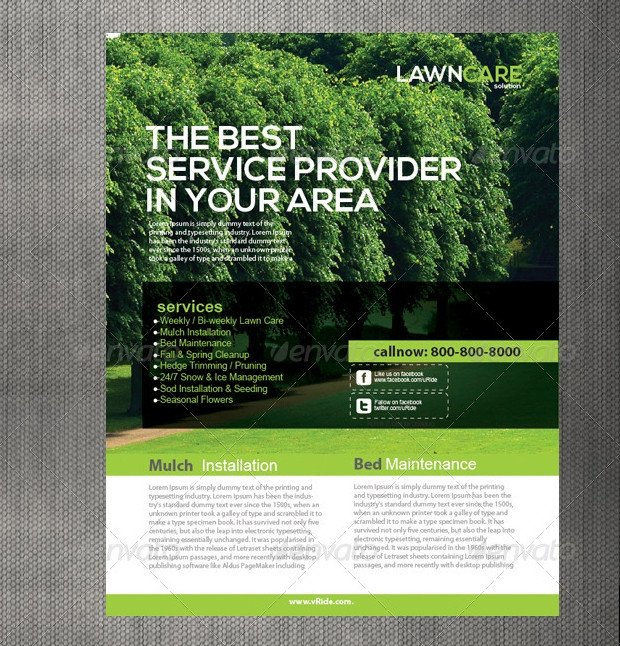 Lawn Care Flyers Template 15 Lawn Care Flyer Templates Printable Psd Ai Vector