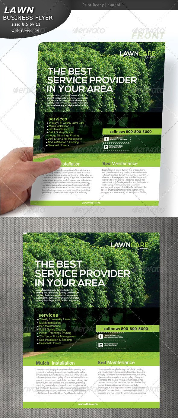 Lawn Care Flyers Template Lawn Care Flyer by Designcrew