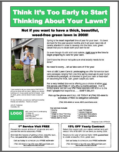 Lawn Care Flyers Template Lawn Care Flyer Template On Behance