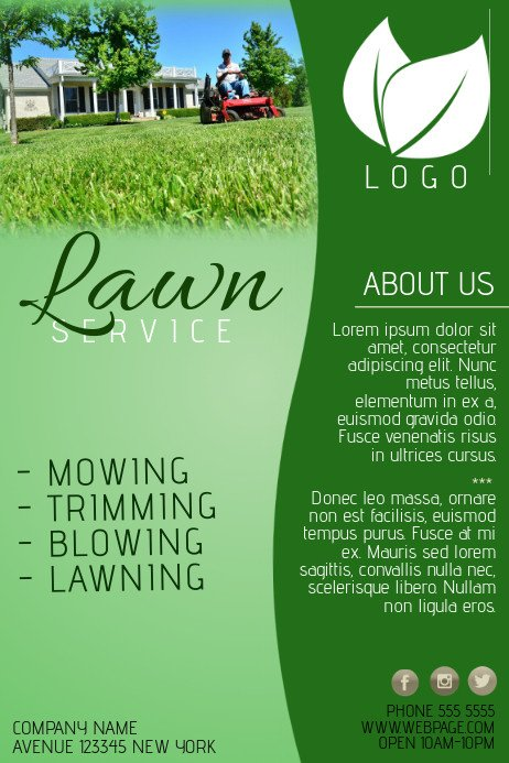 Lawn Care Flyers Template Lawn Service Pany Flyer Template