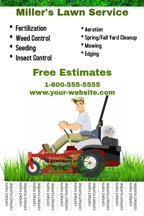 Lawn Care Flyers Template Lawn Service Template
