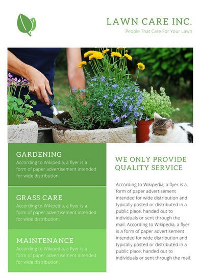 Lawn Care Flyers Template Promotional Flyer Templates Canva