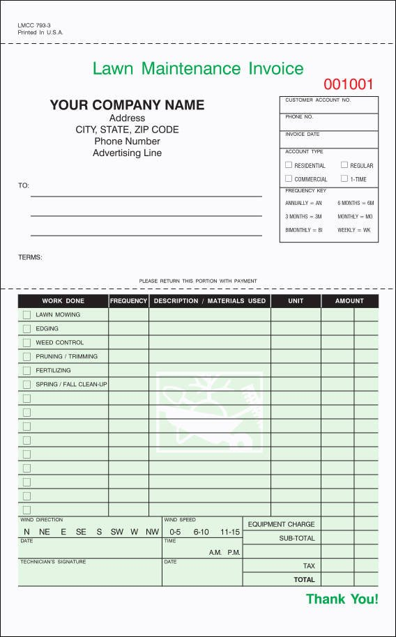 Lawn Care Invoice Template 9 Lawn Care Invoice Samples Pdf Excel Word