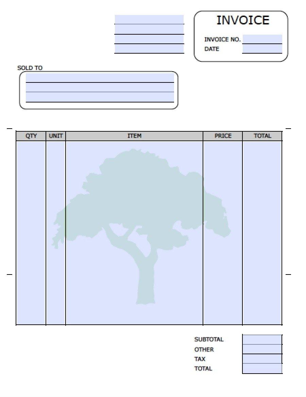 Lawn Care Invoice Template Lawn Care Invoices Invoice Template Ideas