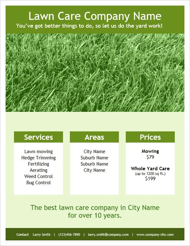 Lawn Care Website Template 26 Best Flyers Programs Invitations Images On Pinterest